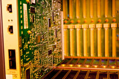 Rack Mounted Servers with circuit board Stock Photography