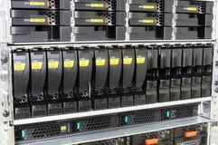 Rack mounted servers Royalty Free Stock Photos