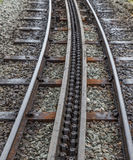 Rack and pinion railway on snowdon Royalty Free Stock Images