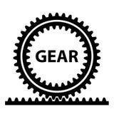 Rack pinion spur gear wheel symbol Royalty Free Stock Photography