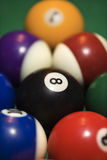 Rack of pool balls. Royalty Free Stock Photography