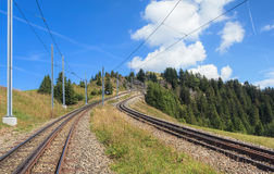 Rack railroad on Mount Rigi Royalty Free Stock Photos