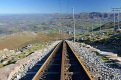 Rack railroad in the mountain Stock Photography