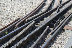 Rack rails switch Stock Photos