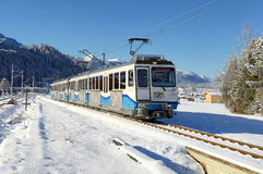 Rack Railway of the Bayerische Zugspitzbahn Stock Photo