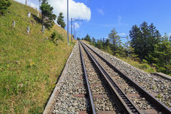 Rack Railway on the Mt. Rigi Royalty Free Stock Image