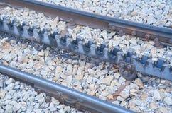 Rack railway railroad tracks in Vall de Nuria, Spain Royalty Free Stock Images