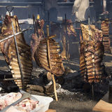 Rack of Ribs Roasted on Crosses 01 Stock Image