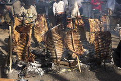 Rack of Ribs Roasted on Crosses 03 Stock Photo