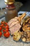 Rack of roasted lamb Stock Image