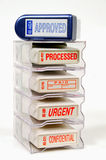Rack Of Rubber Stamps Stock Photography