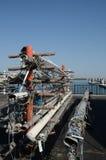 Rack of sailboat masts. Royalty Free Stock Photography