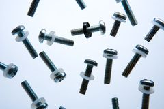 Rack Screws. Screws used in 19-inch racks Royalty Free Stock Photo