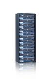 Rack server. Web hosting, rack server, peering Stock Photography