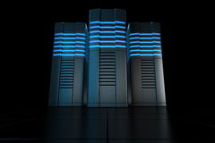 Rack servers Stock Image