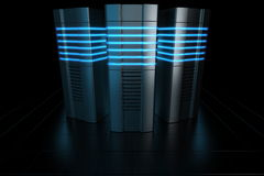 Rack servers Stock Photos