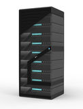 Rack of Servers Royalty Free Stock Photography