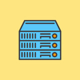 Rack Servers filled outline icon Stock Photo