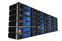 Rack Servers Isolated Stock Image