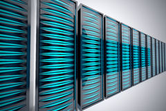 Rack of servers. Stock Images