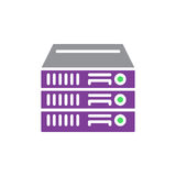 Rack Servers vector icon, colorful sign. Stock Image