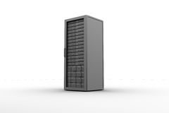 Rack of servers Royalty Free Stock Image