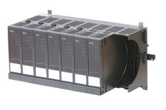 Rack with several Input/Output modules Stock Images