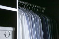 Rack of shirts stock photo