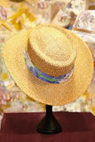 A rack with  straw hat Stock Photography