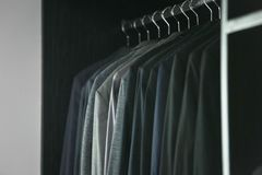 Rack of suits royalty free stock image