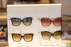 Rack of sunglasses Royalty Free Stock Images