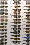 Rack of sunglasses Stock Images