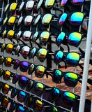 Rack of sunglasses Royalty Free Stock Photos