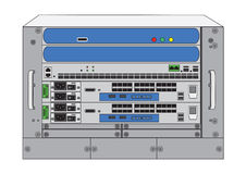 Rack system ,database machine Stock Photo