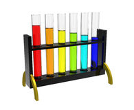 Rack with test tubes Stock Photo