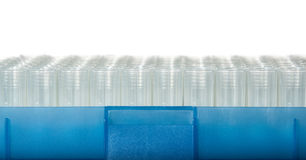 Rack of tips for laboratory automatic pipet Stock Photography
