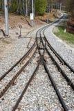 Rack train rails of mount Generoso Royalty Free Stock Photo