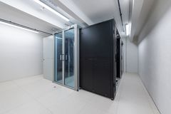 Rack units of computer data processing service center environmental control royalty free stock image