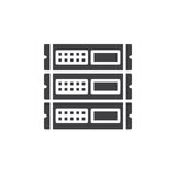 Rack units, servers icon vector, filled flat sign, solid pictogram isolated on white. Symbol, logo illustration. Pixel perfect royalty free illustration
