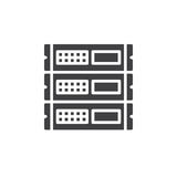 Rack units, servers icon vector, filled flat sign, solid pictogram isolated on white. Royalty Free Stock Images