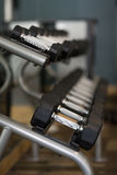 Rack of weights Royalty Free Stock Photo
