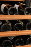Rack of Wine Stock Image