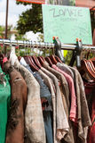 Rack Of Zombie Clothes On Sale At Atlanta Pub Crawl Royalty Free Stock Photography