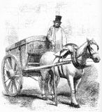 racka ner påvagnen som används i London royaltyfri illustrationer