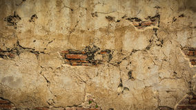 Racked concrete vintage wall background,old walls.  Stock Photography