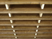 Racked Manufactured Wood. A stack of Racked Manufactured Cherry Wood Stock Image