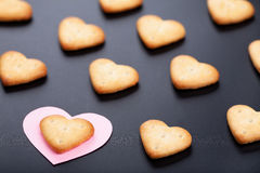 Сrackers with paper heart Stock Photography