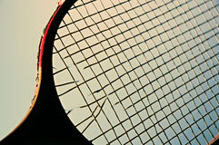 Racket. Close-up of racket strings Royalty Free Stock Images