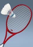 Racket for badminton. And shuttlecock vector illustration