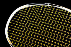 Racket badminton. Racket for badminton on black background Stock Image